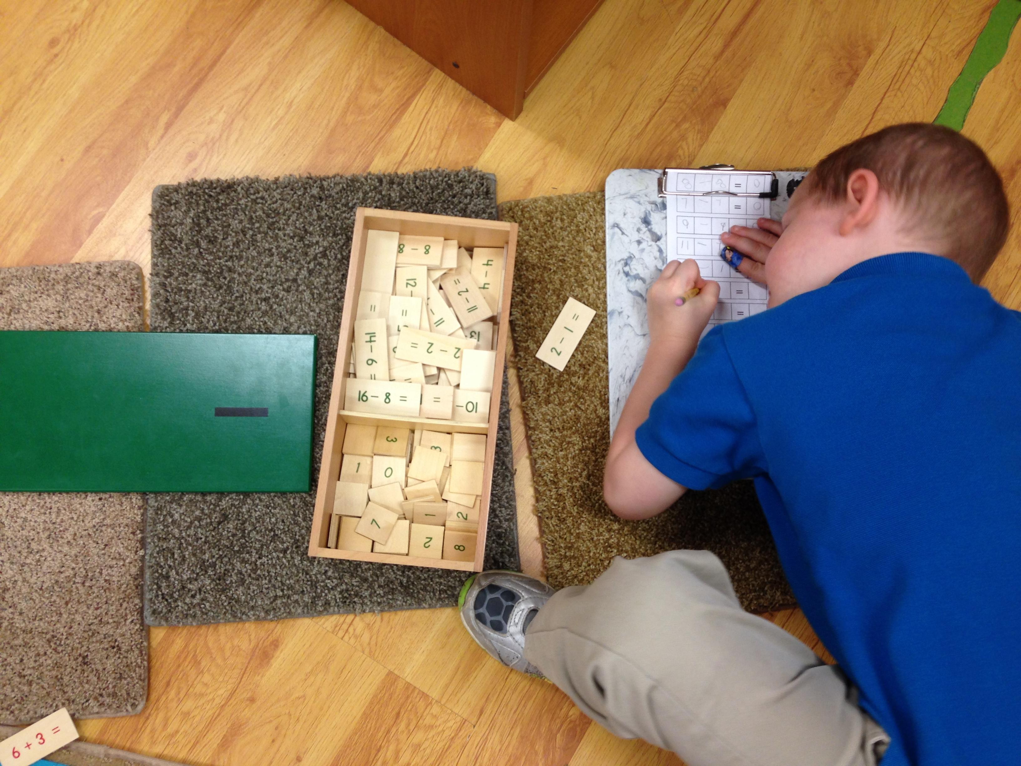 Child working on Math